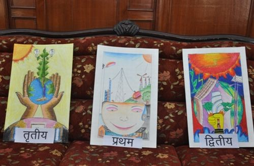The news himachal sjvn holds state level painting for Save energy painting
