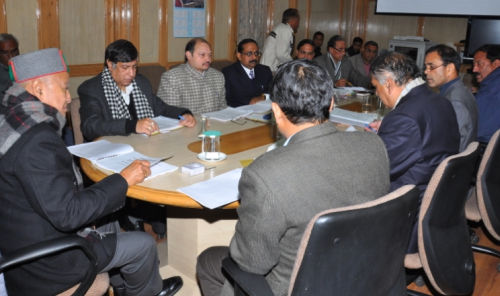 CM in PWD meeting