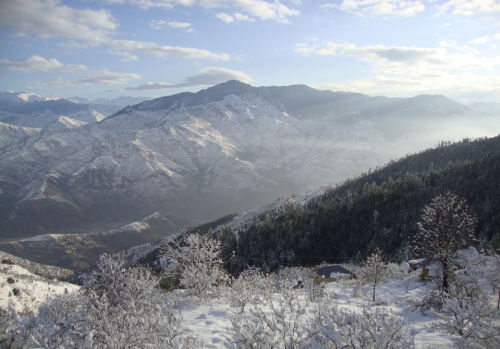 Rohru valley after snow