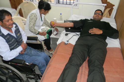blood donation camp at Jatogh cantonment
