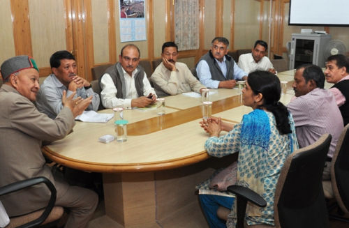 Disaster Management meeting in shimla