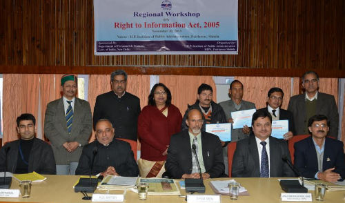 RTI  workshop at HIPA