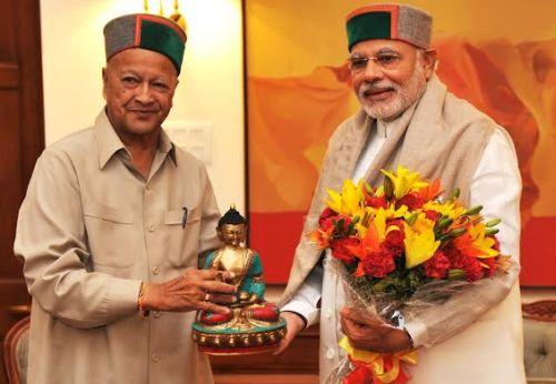 Virbahdra with Modi
