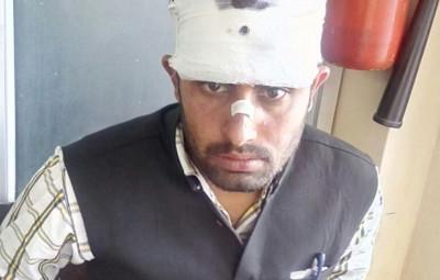 Police lathicharge in Shimla