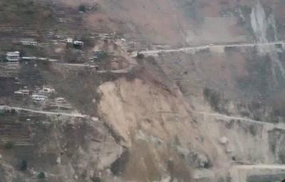 View of Chagoan slide zone in Kinnaur